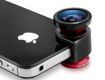 olloclip.  I really wish I had had this on my vacation!  It's for iphone 4/4s/5 and includes a fisheye, wide-angle, and macro lenses.
