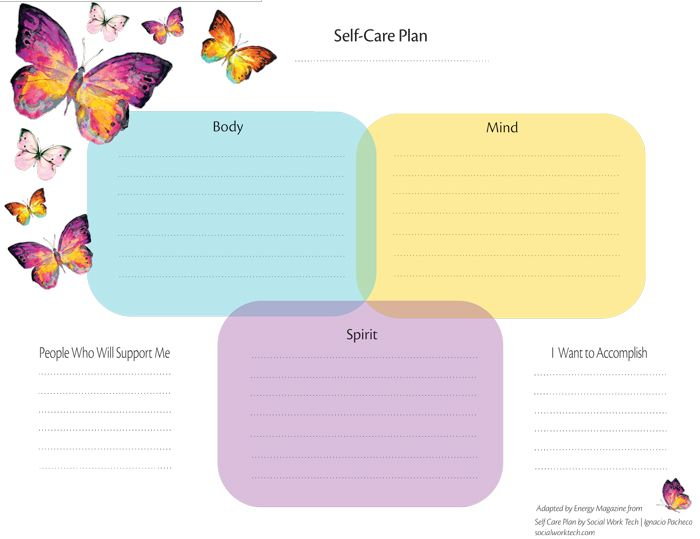 343 best images about coping skills tool box on pinterest for Self care plan template