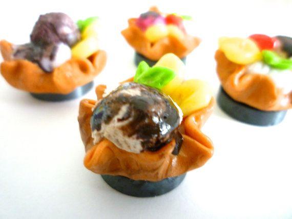 miniature ice cream dessert Espresso with fruits hand by ByAzalea, 5.00
