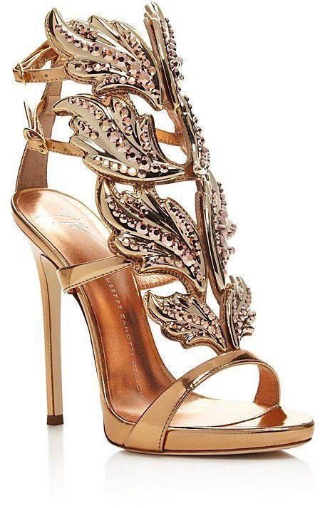 Giuseppe Zanotti Coline Cruel Embellished Wing High Heel Sandals #giuseppezanottiheelssandals
