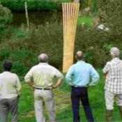 """Transition Network project """"The Newton Abbot Energy Sculptures"""" represent 5 sources of renewable energy."""