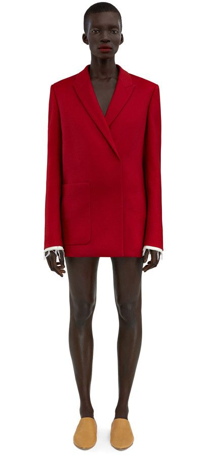 Acne Studios Deana si guitar red Embroidered jacket