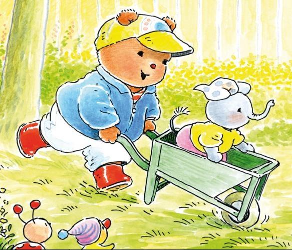 Fotobehang Sweet Collectie - Bobbi With A Wheelbarrow - FotobehangFactory.nl