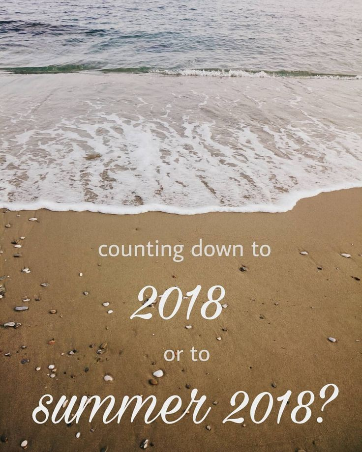 So what are you counting down to?