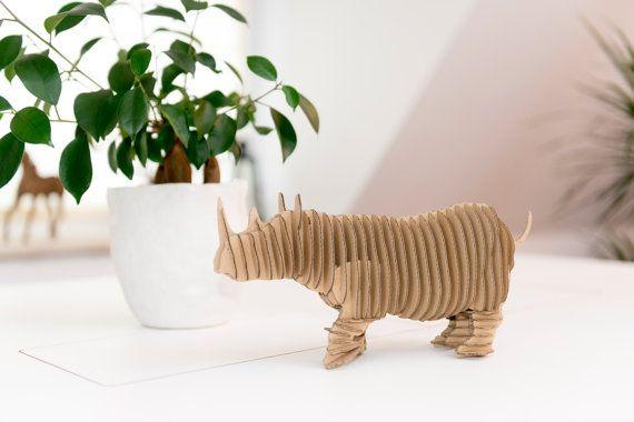 Rhino - cardboard figure