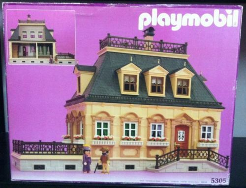 Playmobil-5305-VICTORIAN-MANSION-DOLLHOUSE-Factory-Sealed-New-in-Box-MIB-1990
