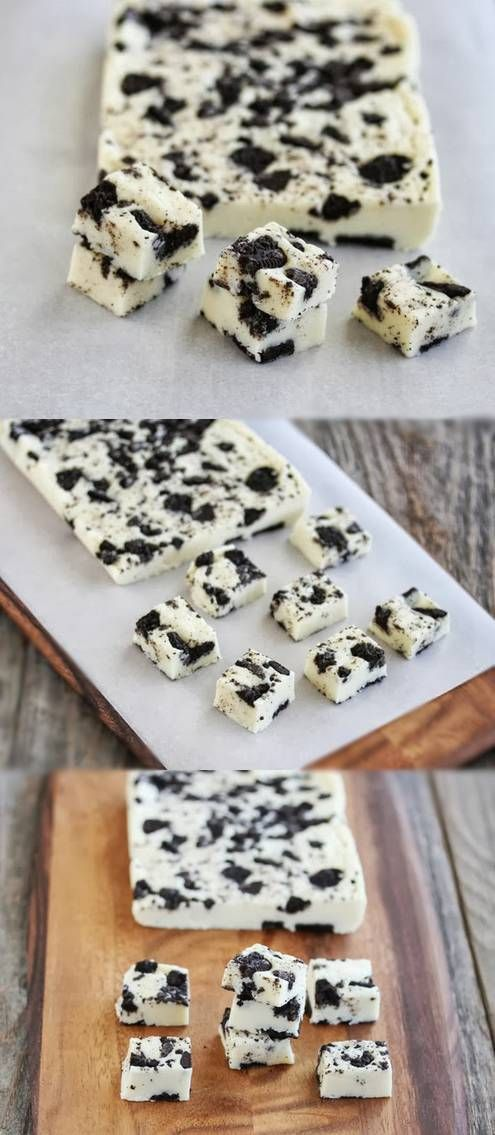 5 Minute Cookies and Cream Fudge--something to try