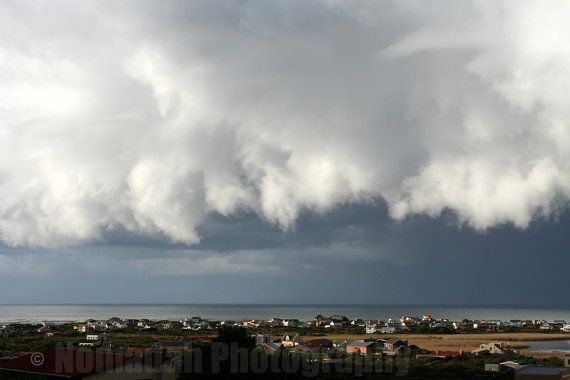 Storm over seaside village of Betty's Bay, South Africa.