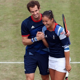 Andy Murray and Laura Robson win Olympic silver medal for Team GB.
