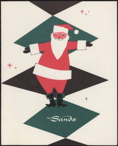 "Ho, ho, ho! Check out this 1957 Christmas menu from the Garden Room at the Sands Hotel. Part of the UNLV Libraries ""Menus: The Art of Dining"" digital collection."