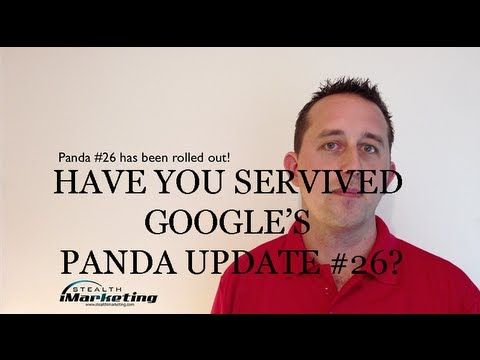 http://lnx2.co/2z8  Brisbane SEO Expert Jeremy talks about what has been happening this week to rankings. With Google Releasing update after update to serve up the most relevent, fresh and correct content, Panda 26 has been confirmed.  In This Episode:  - Google Panda 26 has been released - This update seems to be softer in approach - Panda 26 is more finely targeted  CLICK HERE TO SEE FULL UPDATE http://lnx2.co/2z8