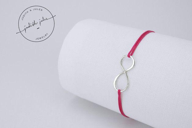 Partnerschmuck - LILLI - Armband (925 Sterling Silber & Nylon) - ein Designerstück von Judith-Jules bei DaWanda