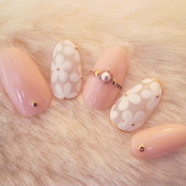 Flower gel nails | #Japan #Japanese #madeinJapan