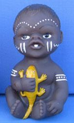 Aboriginal Baby with lizard Price $10.00 or 2 for $18.00
