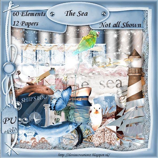 Scrapkit The Sea [Denise Creationz] - $2.20 : , Exclusive Scrapping Divas