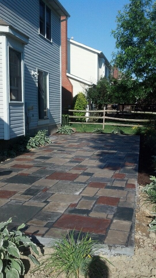 My Hand Stained Stamped Concrete Patio Home Deco