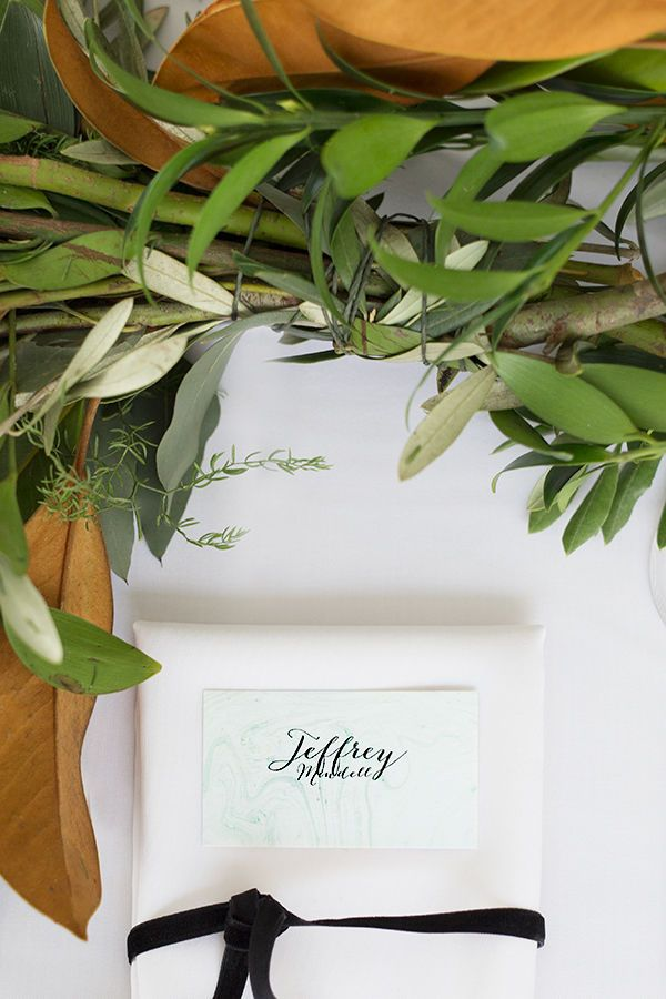 craft ideas for wedding place cards%0A    DIY Place Cards Just in Time for Fall