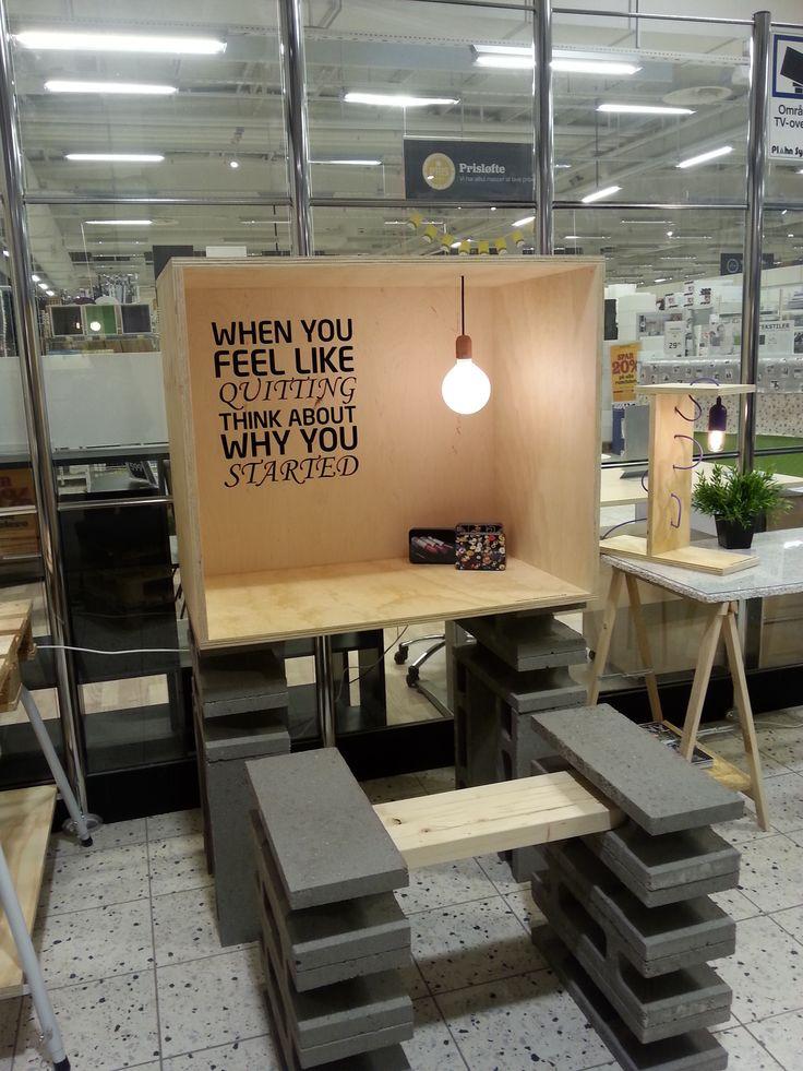 Privat skrivebord og bænk - fra butikken i Tilst