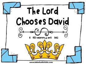 This lesson about David being chosen by God as the next king is #4 in our study of David.  The lesson can be found in 1 Samuel 16.