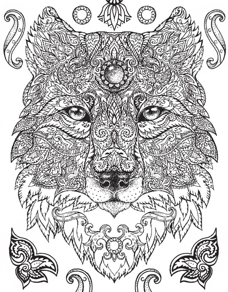 Best Wolf Coloring Pages Images On Pinterest Mandalas Ttto