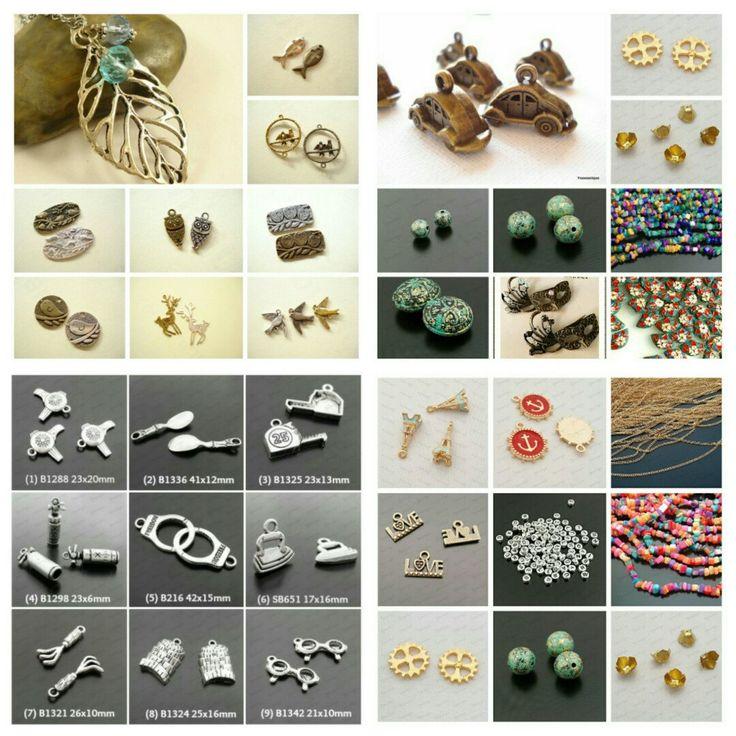 [20% SAVE] Metal Charm Pendant / Photo Glass Cabochons.