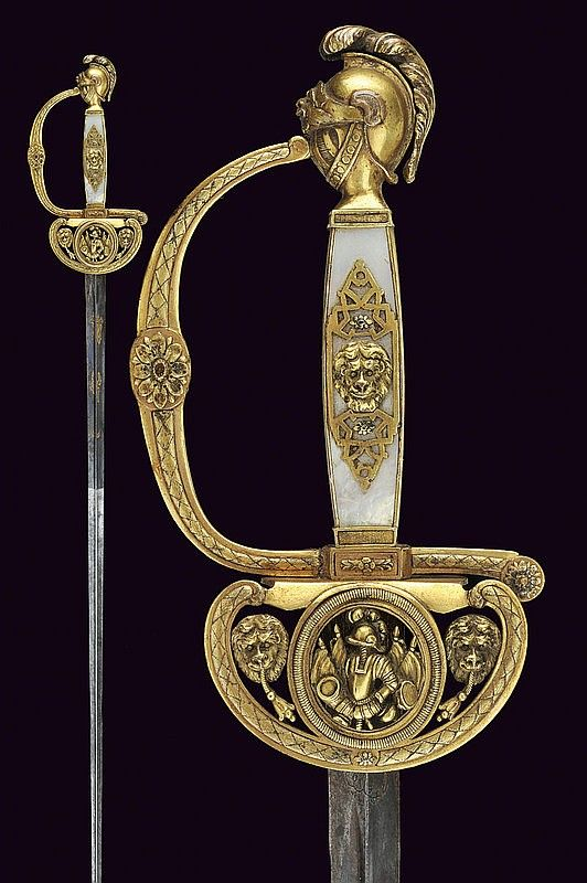 A general's small-sword, dating: circa 1800  provenance: France