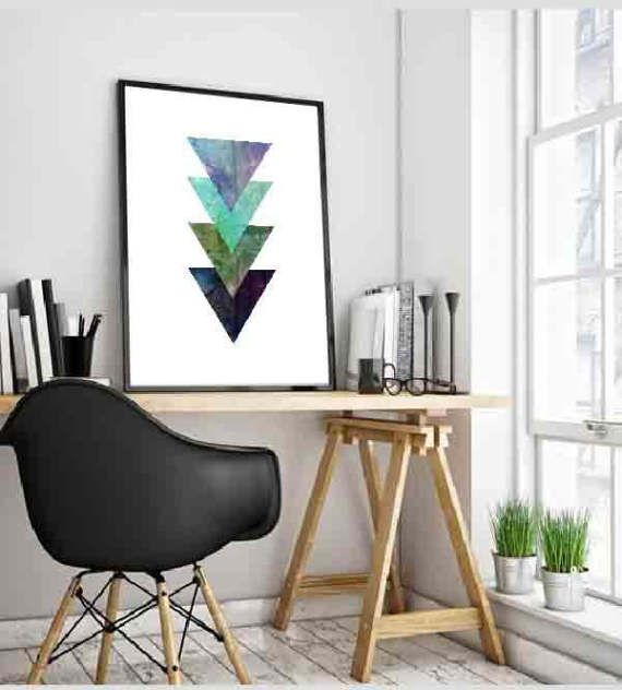 Scandinavian Print Triangles print Scandiavian Art by DaniJArts