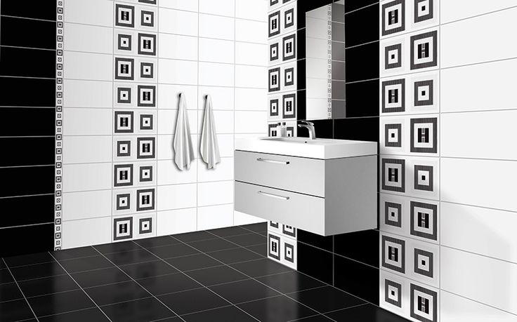 Colectia E-Project/Quadrat cu decor geometric, negru