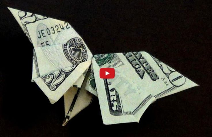 How To Fold A Dollar Bill Origami Butterfly Paper Crafts | DIY Tag