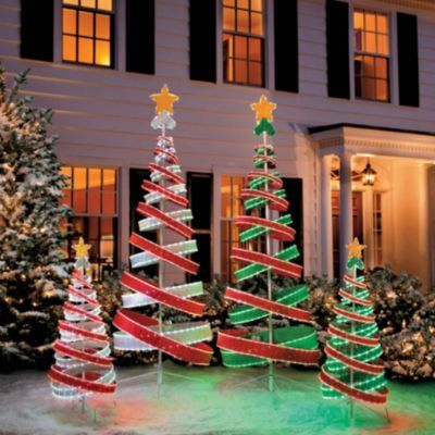 Razzle-dazzle them with our marvelous Tube Light Spiral Christmas Trees. | Outdoor  Christmas Decorations | Pinterest | Christmas, Christmas decorations and ... - Razzle-dazzle Them With Our Marvelous Tube Light Spiral Christmas