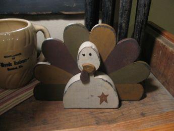 primitive turkey wood  | home primitive fall decor primitive wooden turkey part number sns4710
