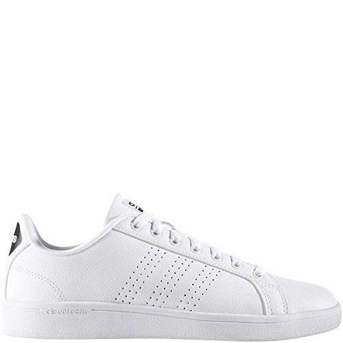 the best attitude 248b0 3747b adidas Women s Shoes Cloudfoam Advantage Clean Sneakers white White Black,  (8 M US)
