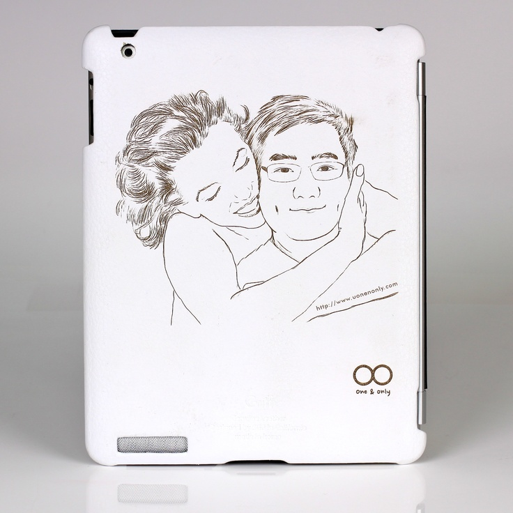 This is the one and only iPad case I make. I draw it and engrave it with Laser. She look like Monroe but is my wife actually...ok...right...I made her look like more beautiful...^^ anyway, I really like this^^.