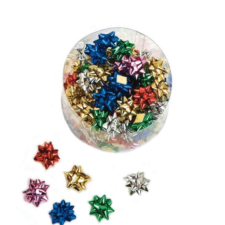 Lazos pompones decorativos de colores surtidos, especial para joyerías, platerías y regalos pequeños. Bote de 100 unidades
