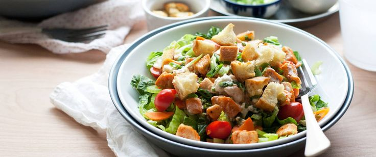 Ready in only 40 minutes, our fresh chicken salad get a little kick courtesy of cayenne pepper and buffalo wing sauce.