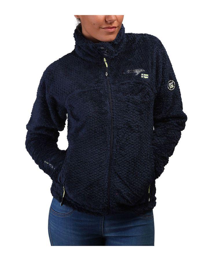 Felpa geographical norway donna - chiusura con zip, due tasche esterne con zip - 100% pl - lavare a 30° c - Felpa donna upset Blu