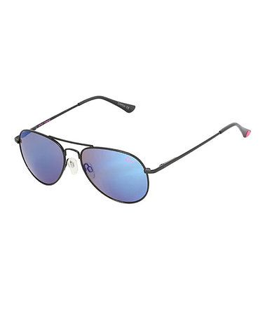 This Black & Blue Aviator Sunglasses is perfect! #zulilyfinds