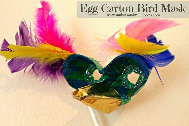 Sun Hats & Wellie Boots: Egg Carton Bird Mask