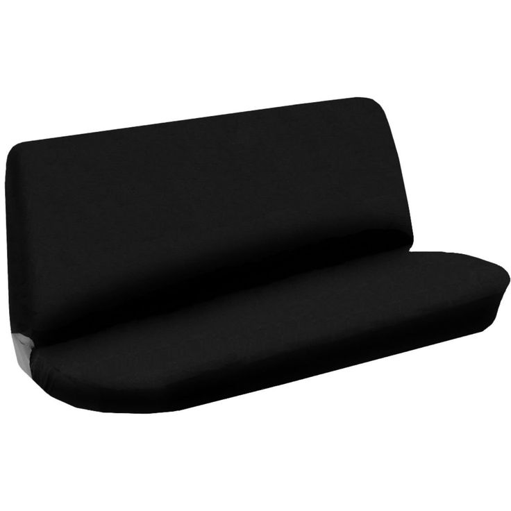 Unique Bench Seat Cover Flat Solid Black 2pc Cloth For Toyota Corolla (Color)