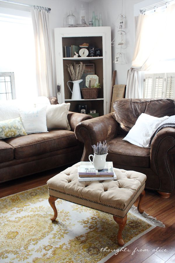 Brown Living Room Set Decor Ideas With The Color Orange: Best 20+ Dark Leather Couches Ideas On Pinterest