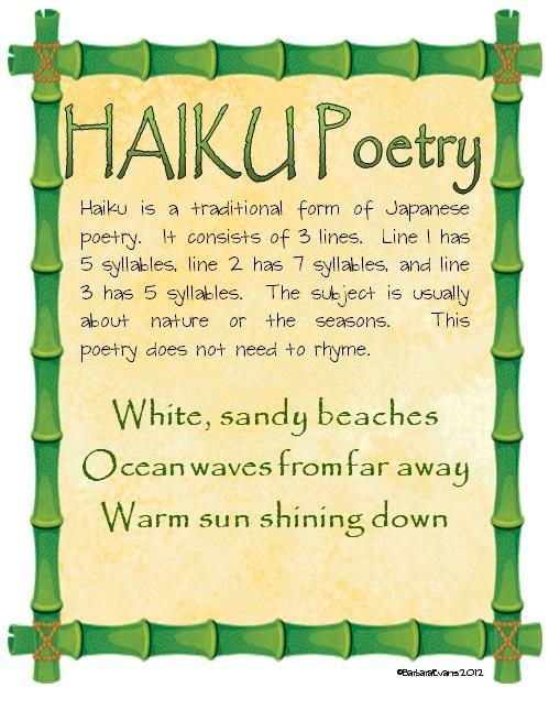 25+ best ideas about Haiku poems for kids on Pinterest | Poetry ...