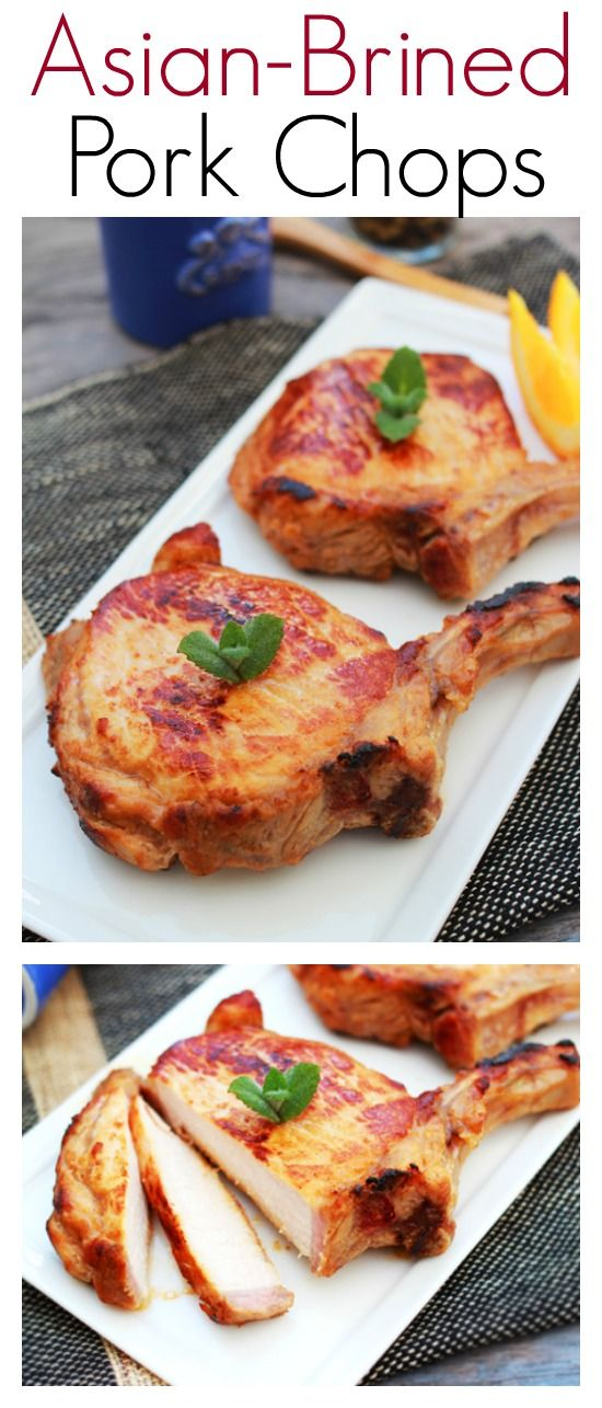 Asian-brined Pork Chops - flavorful and delicious Asian pork chops, so easy to make dinner is ready in 30 mins | rasamalaysia.com