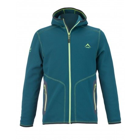 K-WAY MEN'S BANDIT HOODY FLEECE: The K-Way Bandit Hooded Fleece with 2 hand pockets is perfect for casual wear in the colder seasons. Elasticated cuffs, hem and hood for added comfort. Throw it on after a day on the mountains, just as the air starts to bite.