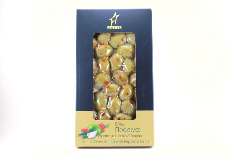 ''ASTIR'' Green Olives stuffed with Pepper & Garlic