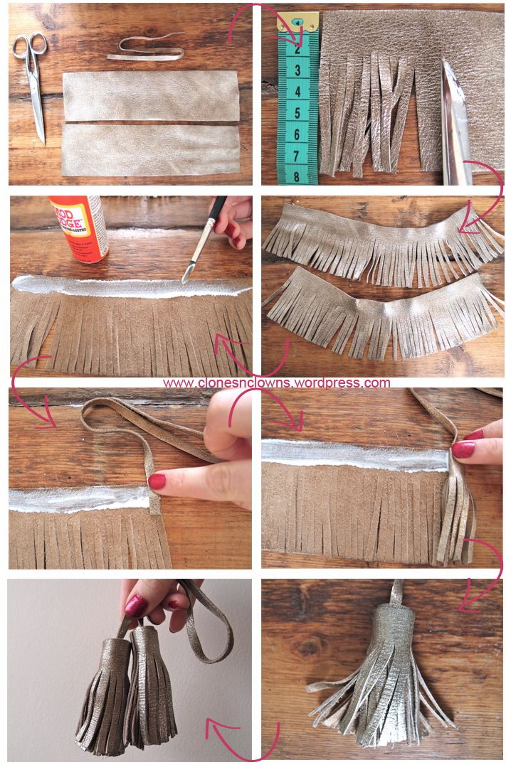 DIY : Leather tassels // Glands en cuir | DIY BLOGDIY BLOG