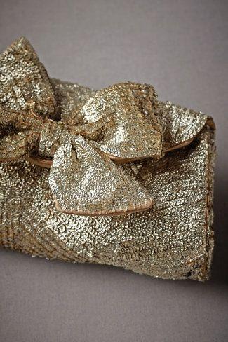 Gold Sequin Clutch.