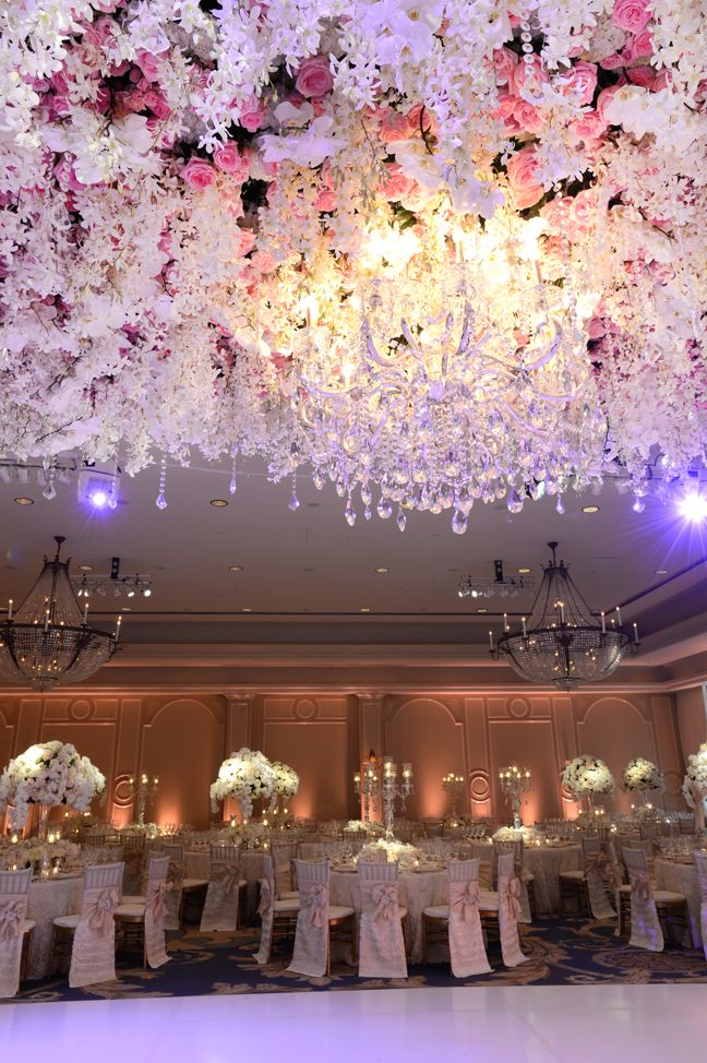 Grande Floral Ceiling | Dream Wedding | Extravagant | Wedding Flowers