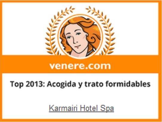 Los viajeros de Venere han seleccionado #Karmairi #Hotel #Spa para el premio Top 2013: Acogida y trato formidables.