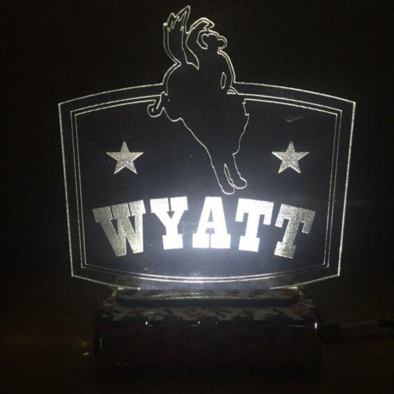 Rodeo night light Kids night light LED light by LaserificCreations