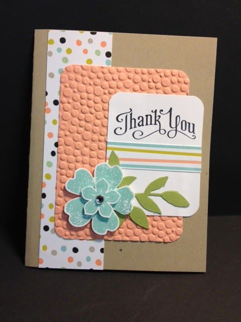 Flower Shop and Petite Petals Thank You Card Stampin' Up! Rubber Stamping Handmade Cards